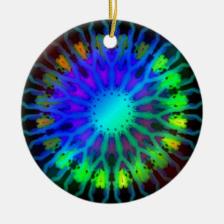 Glowing in the Dark Kaleidoscope art Ceramic Ornament