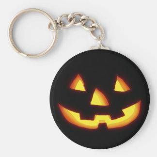 Glowing jack o lantern key ring