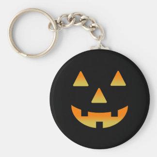 Glowing Jack-O-Lantern Basic Round Button Key Ring