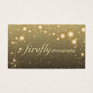 Glowing Jar Of Fireflies Night Stars Black Back Business Card