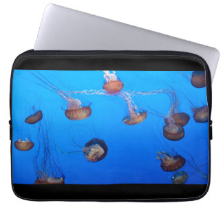 Glowing jellyfish sleeve laptop sleeve