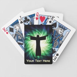 Glowing Jesus Christ Silhouette Poker Deck
