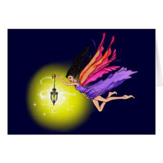 Glowing Lantern Fairy Greeting Card