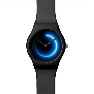 Glowing Light Trail Print Watch
