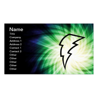 Glowing Lightning Bolt Pack Of Standard Business Cards