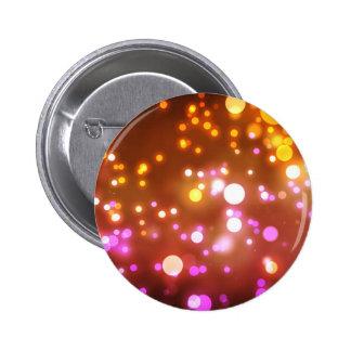 Glowing lights 6 cm round badge
