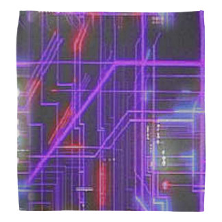 Glowing lights and purple with red neon lines bandannas