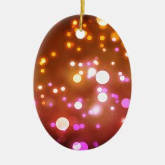 Glowing lights ceramic ornament