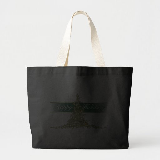 Glowing Lights Happy Holidays Dark Tote Bag