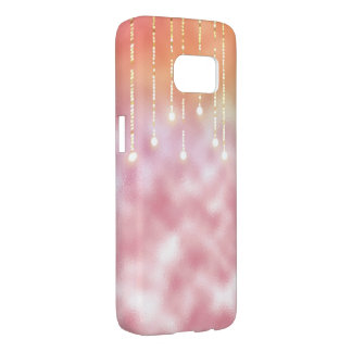glowing lights on pink frost