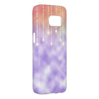 glowing lights on purple frost