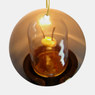 Glowing Low Voltage Light Bulb Ceramic Ornament