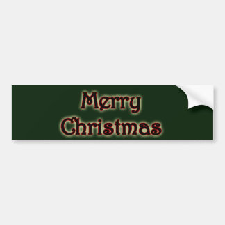 Glowing Merry Christmas Bumper Sticker Car Bumper Sticker
