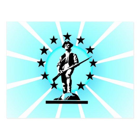Glowing Minuteman Postcard