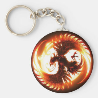 glowing phoenix key ring