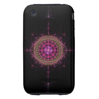 Glowing Pink Eye iPhone 3 Tough Cover