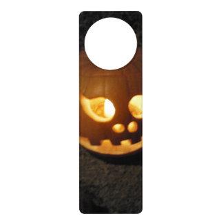 Glowing Pumpkin Door Hanger