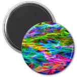 Glowing Rainbow Abstract 6 Cm Round Magnet