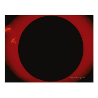 Glowing Red Corona Postcard