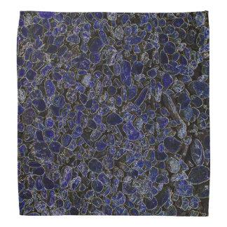 Glowing Sapphire Blue Stones Design Bandana