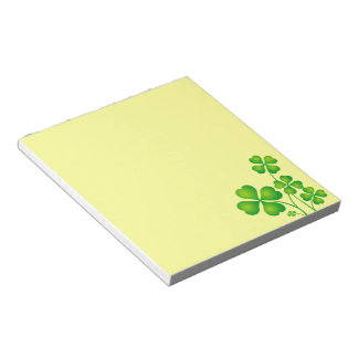 Glowing Shamrocks Notepad