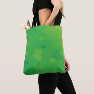 Glowing Shamrocks Tote Bag