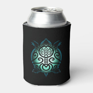 Glowing Silhouette Snapper Turtle Can Cooler