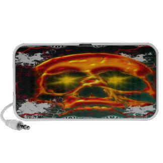 Glowing Skull  Doodle Portable Speaker