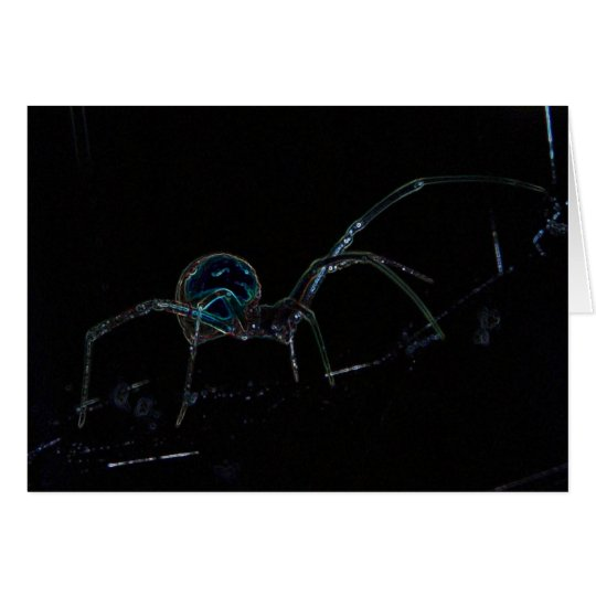 Glowing Spider Greeting Card