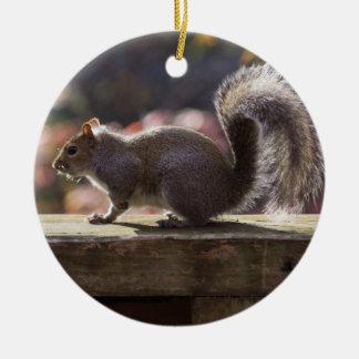 Glowing Squirrel Ceramic Ornament