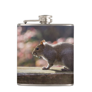 Glowing Squirrel Hip Flask