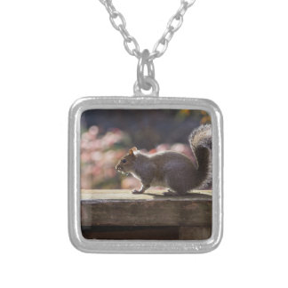 Glowing Squirrel Silver Plated Necklace
