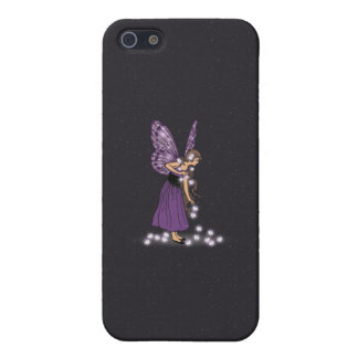Glowing Star Flowers Pretty Purple Fairy Girl Case For iPhone 5/5S