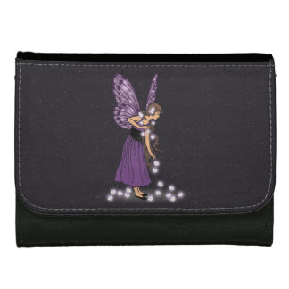 Glowing Star Flowers Pretty Purple Fairy Girl Wallet