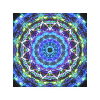Glowing Star Kaleidoscope Gallery Wrapped Canvas
