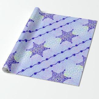 Glowing Star of David Wrapping Paper