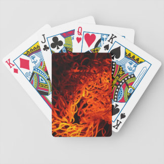 Glowing steel wool bicycle playing cards