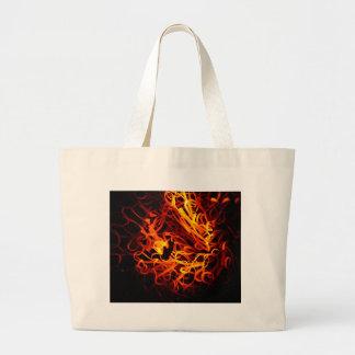 Glowing steel wool large tote bag