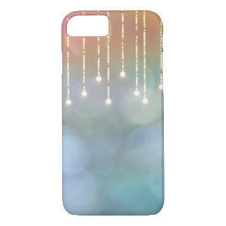 glowing string of lights on bokeh iPhone 7 case