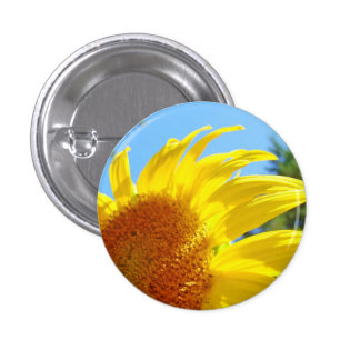 Glowing Summer Yellow Sunflower Buttons custom