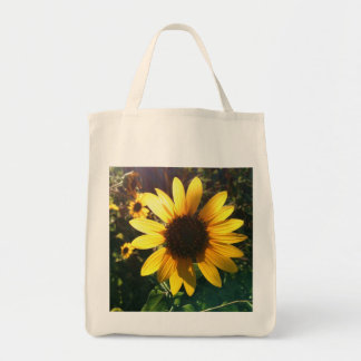Glowing Sunflower Grocery Tote Bag