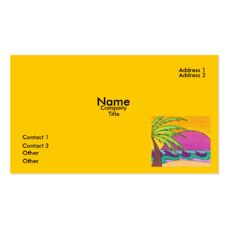 Glowing Sunset Business Card Template