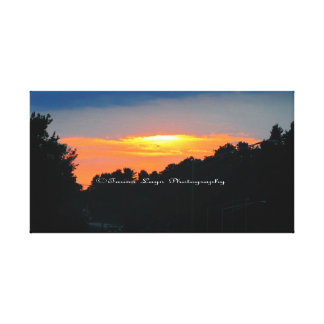 Glowing Sunset Canvas Stretched Canvas Print