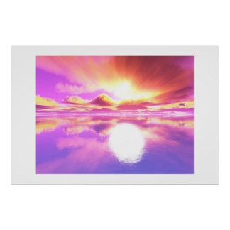 Glowing Sunset II Posters