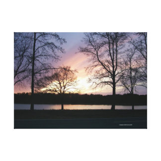 Glowing sunset wrapped canvas