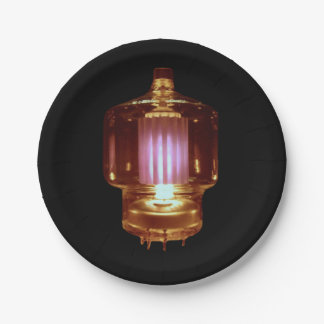 Glowing Transmit Vacuum Tube Paper Plate