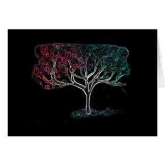 Glowing tree card