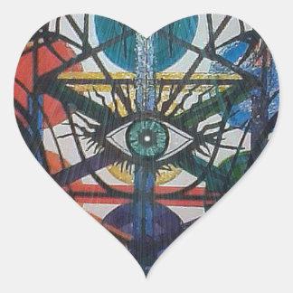 Glowing Tree of Life Heart Sticker