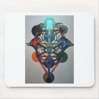 Glowing Tree of Life Mouse Pad