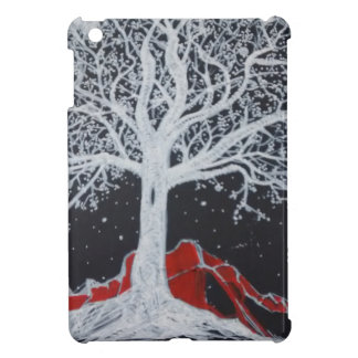 Glowing tree of life on a black background iPad mini cases